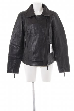 Cartoon Veste en cuir noir Look de motard