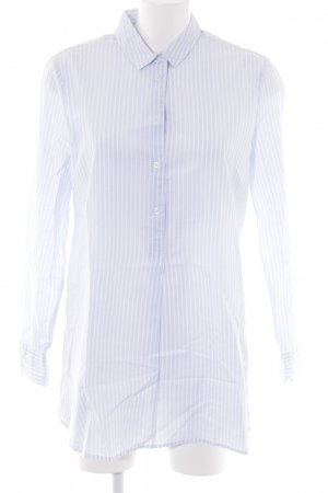 Cartoon Camicetta lunga blu fiordaliso-bianco motivo a righe stile casual
