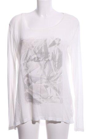 Cartoon Longsleeve white abstract pattern casual look