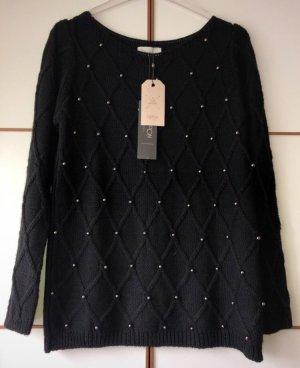 Cartoon Knitted Sweater black polyacrylic