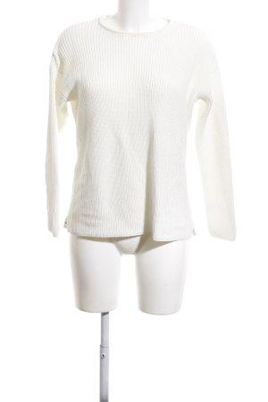 Cartoon Jersey de cuello redondo blanco puro look casual