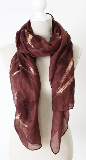 Cartoon Summer Scarf gold-colored-brown