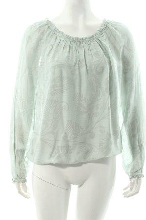 Cartoon Shirt graugrün florales Muster klassischer Stil