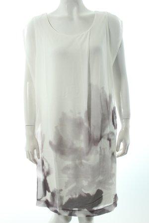 Cartoon Shirtkleid weiß-grau Batikmuster klassischer Stil