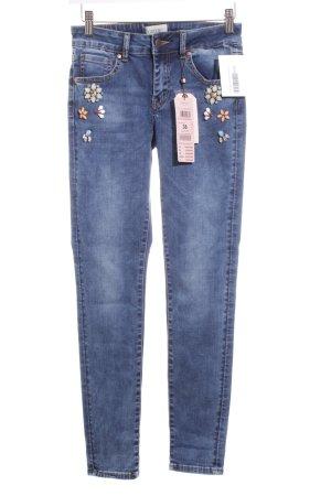 Cartoon Skinny Jeans blau Casual-Look