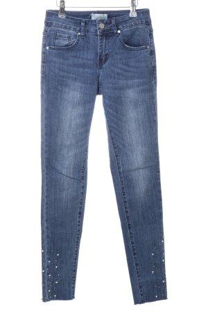 Cartoon Skinny Jeans blue casual look