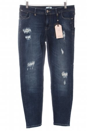 Cartoon Skinny Jeans dunkelblau Destroy-Optik