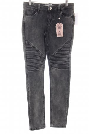 Cartoon Skinny Jeans grau meliert Biker-Look