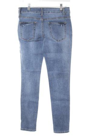 Cartoon Skinny Jeans stahlblau Sternenmuster Casual-Look
