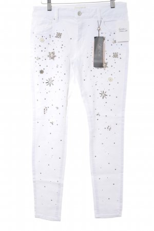 Cartoon Skinny Jeans white-silver-colored casual look