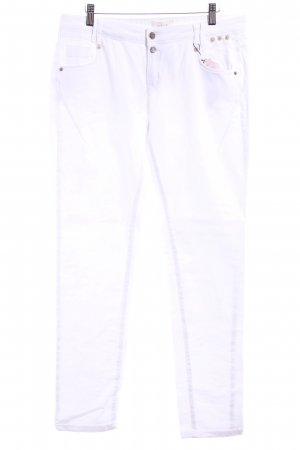 Cartoon Vaquero skinny blanco-color plata estilo sencillo