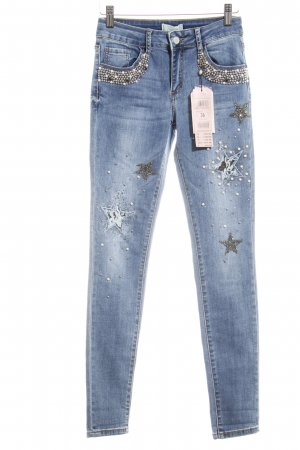 Cartoon Slim Jeans blau-himmelblau Street-Fashion-Look