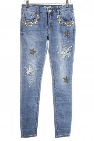 Cartoon Slim Jeans blau Street-Fashion-Look