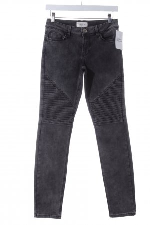 Cartoon Slim Jeans grau Biker-Look