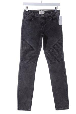 Cartoon Slim Jeans grau Biker-Look