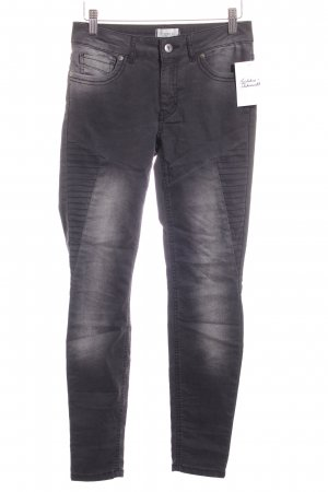 Cartoon Slim Jeans schwarz-hellgrau Biker-Look