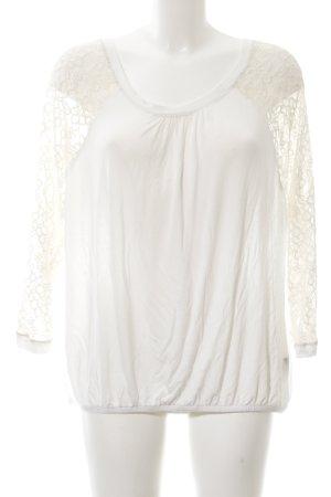 Cartoon Lace Blouse natural white elegant