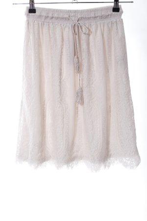 Cartoon Lace Skirt natural white elegant