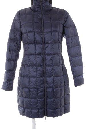 Cartoon Quilted Coat dark blue street-fashion look