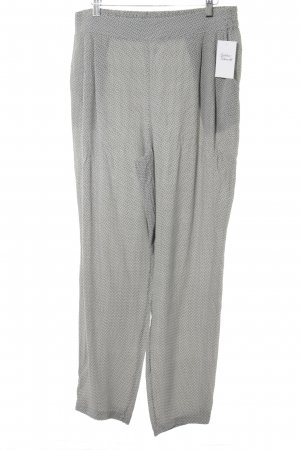Cartoon Stoffhose grau-weiß abstraktes Muster Casual-Look