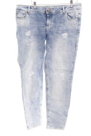 Cartoon Straight-Leg Jeans mehrfarbig Used-Optik