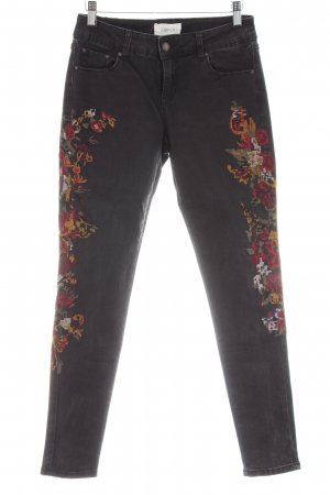 Cartoon Stretch Jeans Blumenmuster Casual-Look
