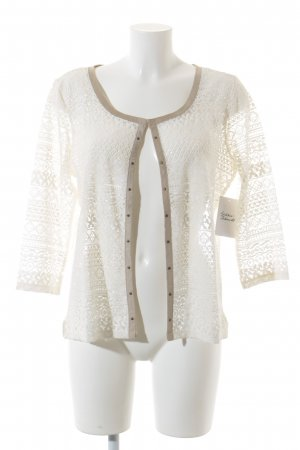 Cartoon Strick Cardigan creme-beige Romantik-Look