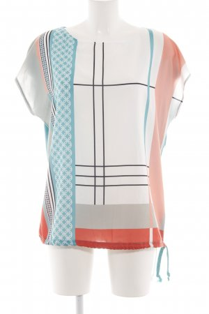 Cartoon Tunic Blouse abstract pattern casual look