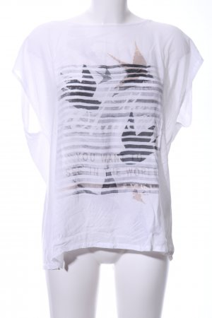 Cartoon Boatneck Shirt white themed print casual look
