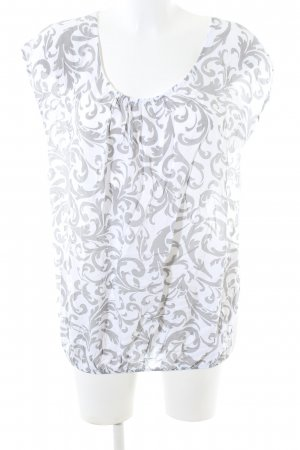 Cartoon Boatneck Shirt white-light grey allover print casual look