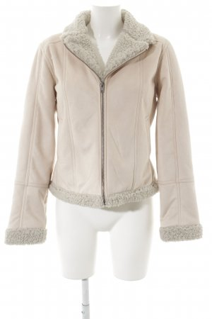 Cartoon Wool Jacket dusky pink-natural white fluffy