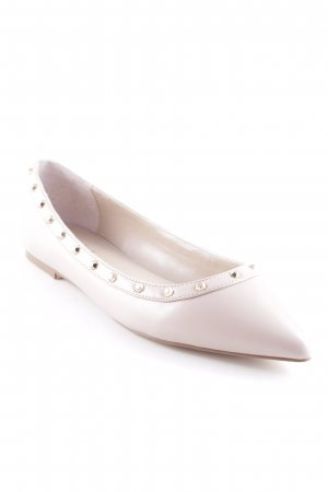 Carvela Ballerinas with Toecap dusky pink-gold-colored street-fashion look
