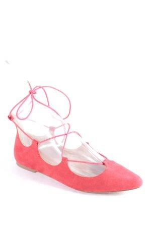 Carvela Ballerinas rot Wildleder-Optik