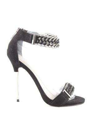 Carvela High Heel Sandaletten schwarz-silberfarben Elegant