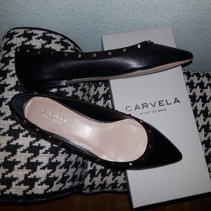 Carvela Kurt Geiger Ballerina Nieten schwarz Gr.39 *neu*