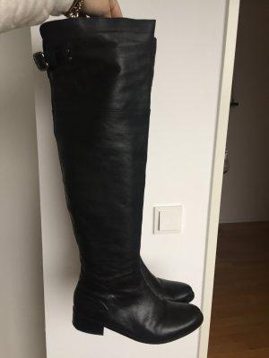 Carvela Kurt Geiger Overknee Stiefel echtes Leder schwarz Gr 39 wie neu