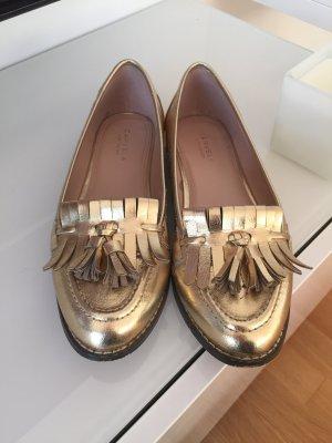 Carvela Kurt Geiger Schuhe Quaste Gold Gr 39