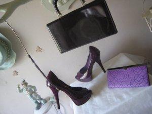 Carvela ´Luxus Lackschühchen Aubergine & Lavendel Stilettoes 13 cm  hoher NP Top