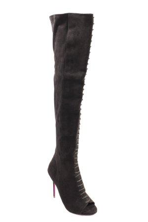 Carvela Overknees schwarz extravaganter Stil