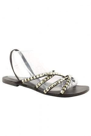 Carvela Roman Sandals black-gold-colored beach look