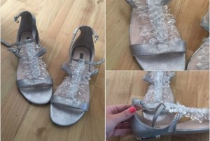 Carvela Strapped Sandals silver-colored