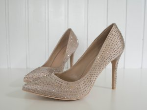 Carvela Strass-Pumps, Satin- Pumps, nude, Gr. 41
