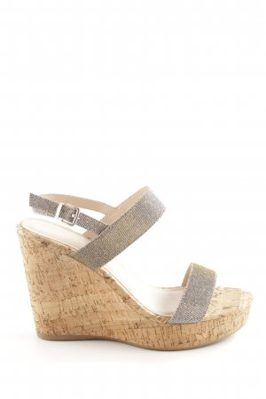 Carvela Wedge Sandals silver-colored-brown casual look