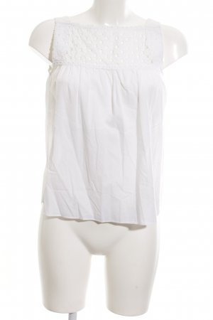 Carven Sleeveless Blouse white casual look