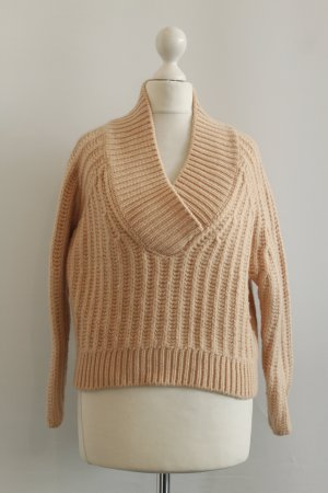 CARVEN Cropped Pullover Gr. XS nude