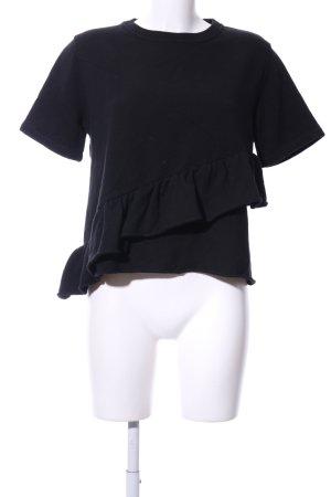 Carven Cropped Shirt schwarz