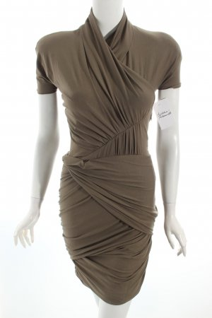 Carven Kurzarmkleid khaki Casual-Look