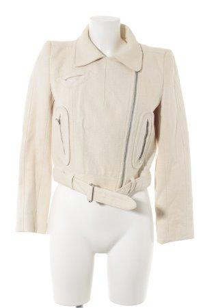 Carven Kurzjacke creme-weiß Romantik-Look