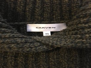 Carven Multi Yarn cropped pullover in Khaki olive green