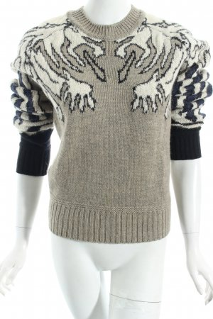 Carven Sweater abstract pattern fluffy